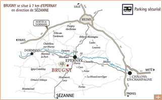 Champagne brugny vaudancourt viticulteur champagne for Plan d epernay